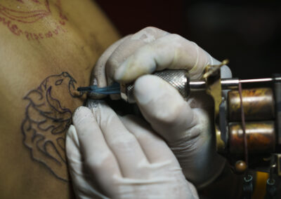 Sakyant tattoo